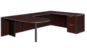 Modern High Quality MFC Board Office Furniture Office Resersible Return Table Desk pictures & photos