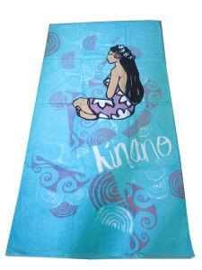 China Factory Customized Reactive Printed Beach Towel