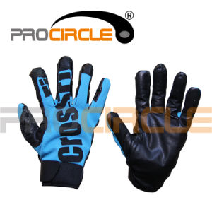 Crossfit Real Leather Gym Slip-Proof Gloves (PC-CG1021) pictures & photos