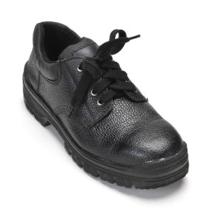 Safety Shoes with Steel Toe and Steel Plate Rubber Outsole Cold Bonding