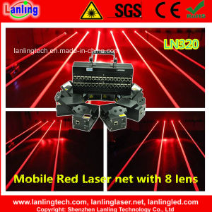 Red 8 Heads Mobile Fat-Beam Laser Net/Curtain Stage Concert Lighting pictures & photos