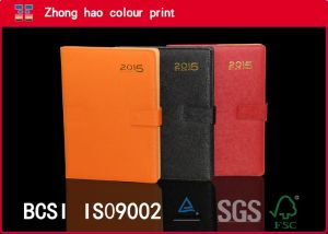 Diary/Orange Black Red/A4 PU Leather Notebook with Magnetic Switch (150531005)