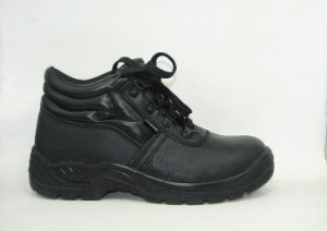 Black Dual Density PU Injection Sole Low Cut Safety Shoe Rh205