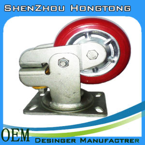 Patent Steel Caster Wheels with Spring pictures & photos