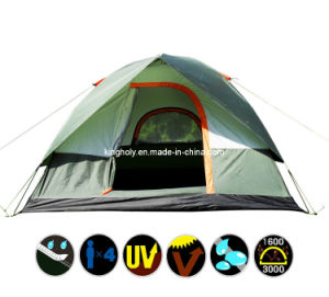 3-4person Water Proof Double Layer Camping Tent (KH010)