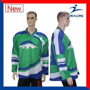 Healong Biggest Factory Full Dye Sublimation Sublimation Hockey Jersey pictures & photos