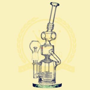 OEM Service Handblown Detachable Glass Water Smoking Pipe Recycler Oil Rigs pictures & photos