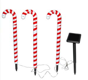Set of 3 Solar Candy Cane Path Light pictures & photos