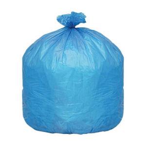 HDPE Blue Disposable C-Fold Plastic Rubbish Bag pictures & photos