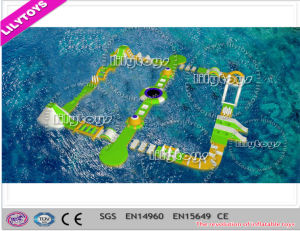 2017 Newest Design 0.9mm PVC Floating Water Game, Giant Adult Water Park for Sea (J-water park-100) pictures & photos