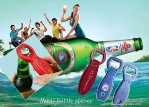 Fashion Plastic Music Bottle Opener pictures & photos