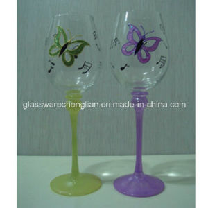 Hand Painted Wine Glasses (B-WG024) pictures & photos