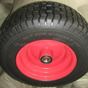 Colorful Painted Metal Rim Rubber Wheel Tyre pictures & photos