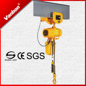 0.5ton Electric Chain Hoist/ Single Speed Crane Winch with Electric Trolley pictures & photos