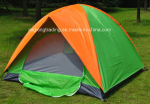 2-4 Persons Double-Skin Polyester Camp Tent (JX-CT020-2) pictures & photos