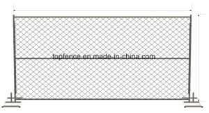 Chain Link Temporary Fencing Panels 6FT X 12FT, 6FT X 14FT, 8FT X 14FT Chain Mesh Temp Fence Panels for Sale pictures & photos