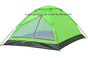 Popular 100% Polyester Single-Skin Camp Tent for 2 Persons (JX-CT017) pictures & photos