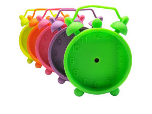 Promotional Printing Logo Kids Colorful Silicone Table Alarm Clock pictures & photos