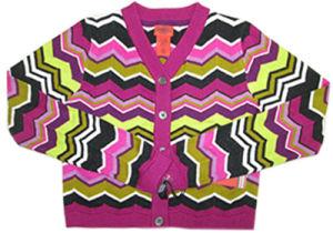 Children Stripe Knitting Colorful Design Cardigan Sweater
