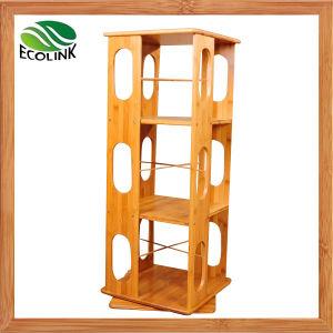Rotating Bamboo Book Shelf Bamboo Book Rack pictures & photos