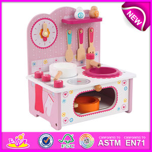 China new product wooden toy kitchen for kids lovely for Kids kitchen set sale