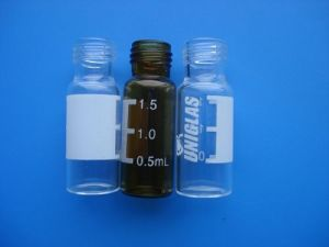 Amber Screwed Tubular Glass Bottle for Pill pictures & photos