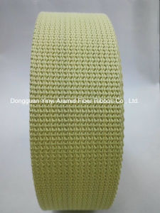 1-3/4′′ Aramid Fiber Webbing for Safety Belt pictures & photos