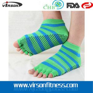 Fashion Striped Half Toe Socks/Yoga Socks/ Jacquard Socks