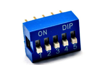 2.54mm Pitch 5-Bit 5 Positions Ways Slide Type DIP Switch