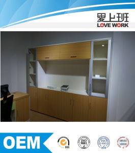 Wooden Frame Filing Cabinet with Glass Door (FC-W4A+W1A)