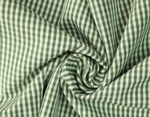 Green/White Classical Checks Plain Polyester Cotton Shirt Fabric pictures & photos