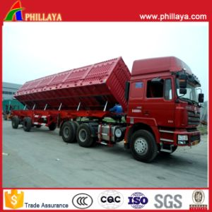Dump Semi Trailer Side Tipper with 4-6PCS Bottom Hydraulic Cylinders pictures & photos