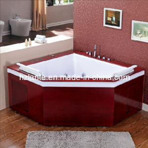 Massage Bathtub with Wooden Skirt (TLP-667-Wood) pictures & photos