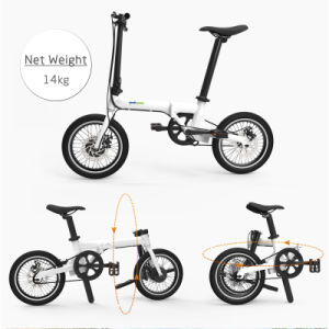 36V Hidden Battery Electric Bike 16 Inch Intelligent Folding Ebike pictures & photos
