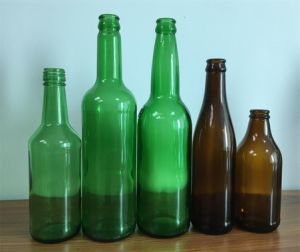 Green Color Glass Beverage Bottle/Beverage Glass Bottle pictures & photos