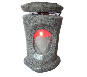 Cemetery Grey Granite Lantern with LED pictures & photos