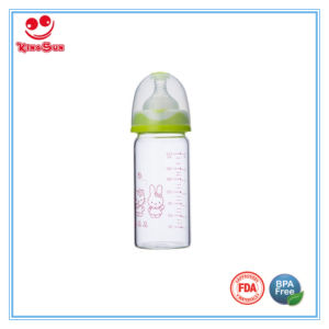 Straight Shape Anti Colic Glass Baby Bottles BPA Free pictures & photos