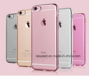 China Wholesale Mobile Accessories Clear Crystal Rubber Electroplating Soft TPU Cell Phone Case for iPhone 6/6s Case pictures & photos