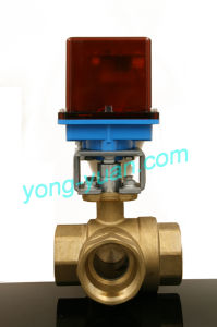 Dn15 3-Way Brass Motorized Ball Valve L/T Type (BS-898-15S) pictures & photos
