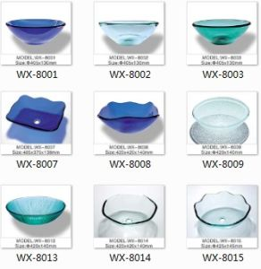 Tempered Glass Sink for Bathroom Vanity pictures & photos