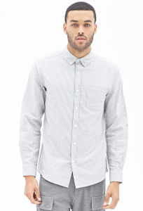 2015 Latest Style of Men Oxford Shirt Fashion Cheap Price Striped Shirt