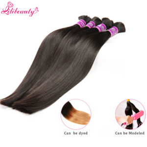 Brazilian Virgin Hair Straight Human Braiding Hair Bulk Without Weft pictures & photos