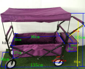 Outdoor Collapsible Beach Utility Wagon with Canopy and Brake pictures & photos