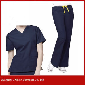 Fashion Nurse Uniform Dress Medical Scrubs Hospital Uniforms Short Long-Sleeve (H21) pictures & photos