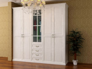 Wooden UV High Glossy Sliding Door Wardrobe (zy-021) pictures & photos