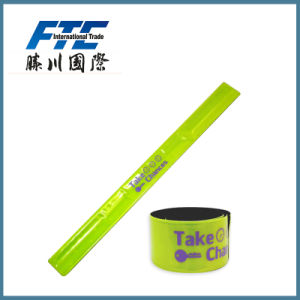 Wholesale PVC Wristband Reflective Slap Band for Promotion pictures & photos