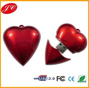 Hot Selling Heart Shape Plastic USB Pen Drive