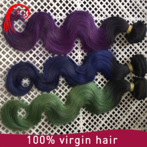 High Quality Ombre Color Remy Hair Weaves Brazilian Human Hair pictures & photos