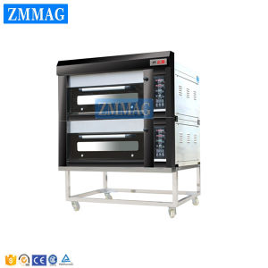 2 Doors and 4 Trays Gas Luxurious Deck Oven (ZMC-204M) pictures & photos