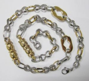 New Design Gold Plating Stainless Steel Chain, Stainless Steel Jewelry Wholesale pictures & photos